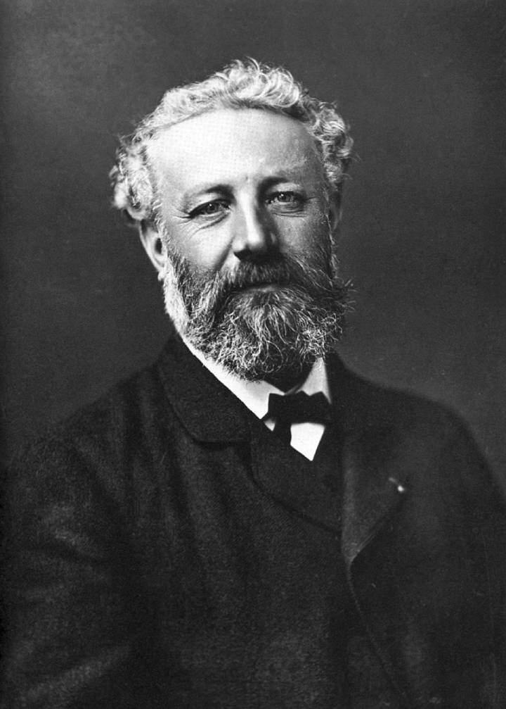 Jules Verne'in bir portresi.